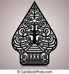 Gunungan or Tree of life symbol