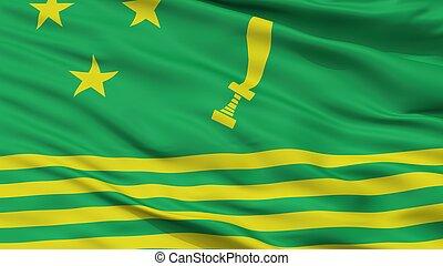 gurkhaland, partido político, bandeira, closeup, vista