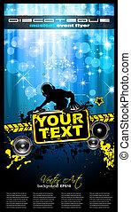 Gurnge Style Alternative Disco Flyer for you Music night ...