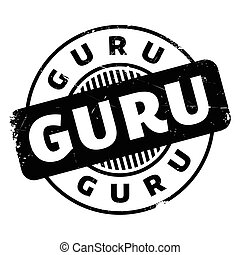 Guru rubber stamp. Grunge design with dust scratches....