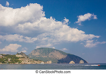 Gurzuf and Ayu Dag mountain. Crimea. Ukraine