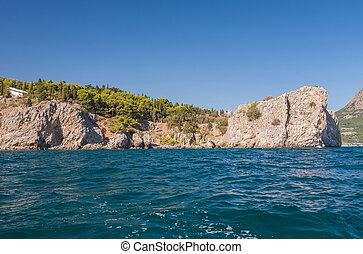 Gurzuf and Ayu Dag mountain. Crimea. Ukraine