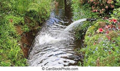 Gushing stream
