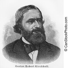 Gustav Kirchhoff - Picture from Meyers Lexicon books written in German language. Collection of 21 volumes published between 1905 and 1909.