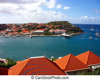 Gustavia harbor, St. Barth, French West Indies