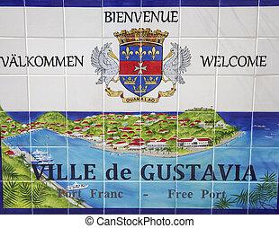 Gustavia sign at St. Barths