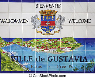 Gustavia sign at St. Barths