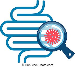 Gut bacteria vector icon isolated on white background