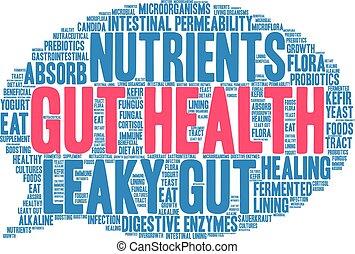 Gut Health Word Cloud - Gut Health word cloud on a white...