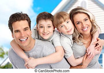 gut, neue familie, home., echte , begriff, junger
