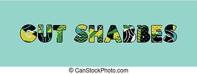 Gut Shabbes Concept Word Art Illustration - The words GUT...