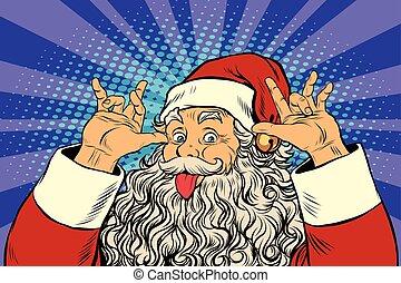 guten, humor, claus, necken, santa, sinn