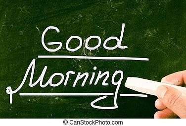 Guten Begriff Aufwachen Morgen Guten Uhr Begriff