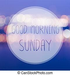 Guten Card Gruß Morgen Sonntag Hintergrund Verwischen
