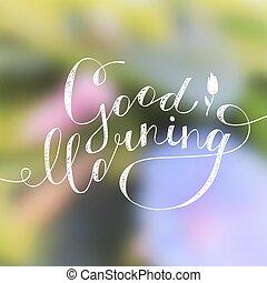 Text Guten Morgen Guten Text Morgen Vektor Blume