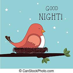 guten, nacht, design