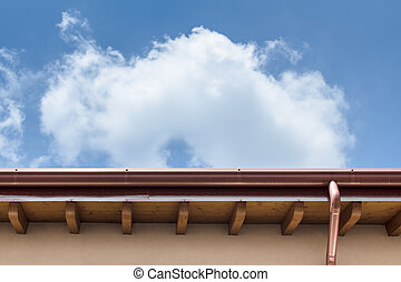 Gutter - Plumbing consist of copper gutter and drain.