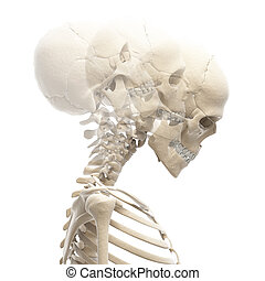 Guy bending his neck - 3d rendered illustration of a guy ...