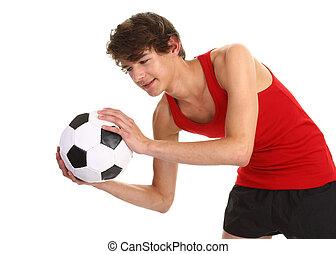 guy catching football