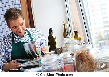 Guy cooking