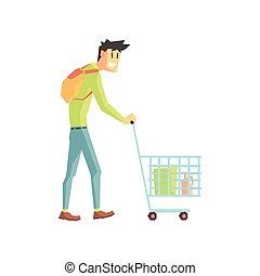 Guy Doing Grocery Shopping