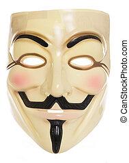 Guy Fawkes mask studio cutout