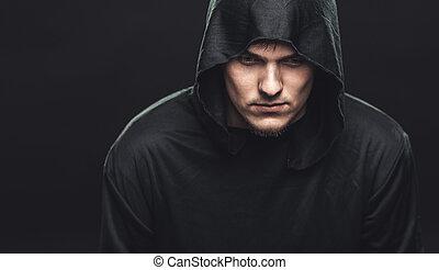 guy in a black robe - serious guy in a black robe