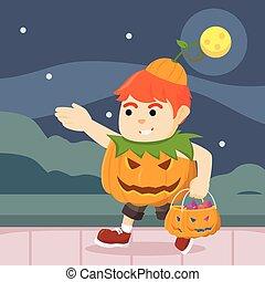 guy in pumpkin costume got so much