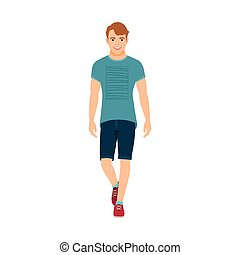 Guy in summer clothes