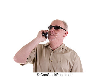 Guy in Sunglasses and Cell Phone