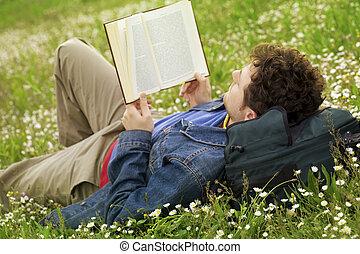Guy reading 03