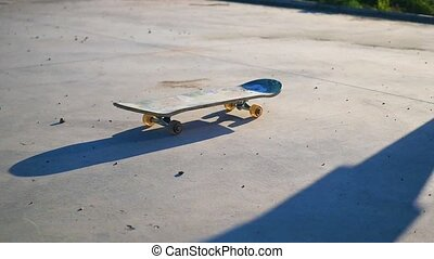 guy riding on a skateboard.guy riding on a skateboard. Active outdoor sports