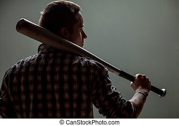 guy with a baseball bat