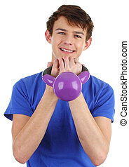 Guy with a dumbell