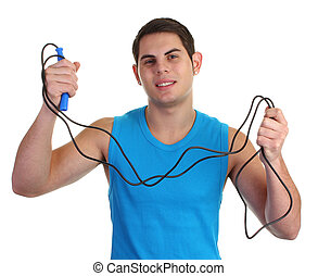 Guy with a skipping rope
