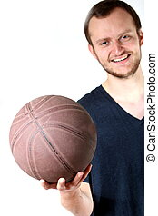guy with basketball