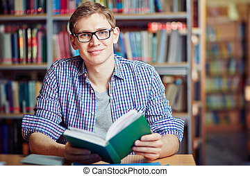 Guy with book