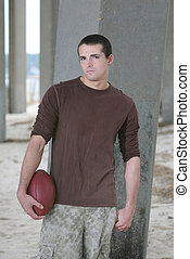 guy with football