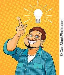Guy with idea