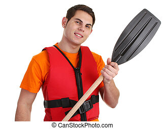 Guy with lifejacket