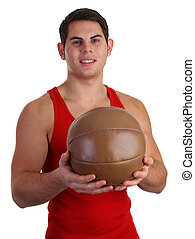 guy with medicene ball