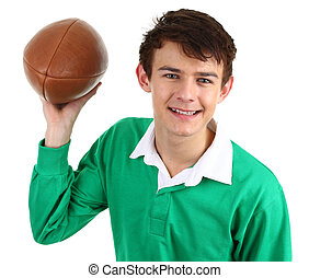 guy with rugby ball