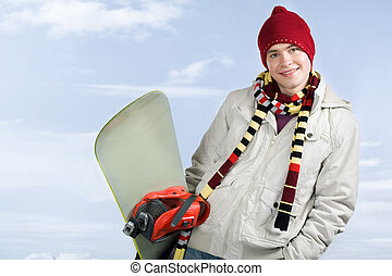 Guy with snowboard
