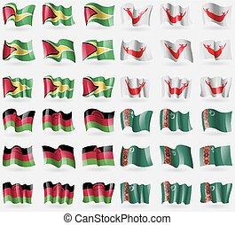 Guyana, Eastar Rapa Nui, Malawi, Turkmenistan. Set of 36...