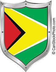 Guyana flag button.