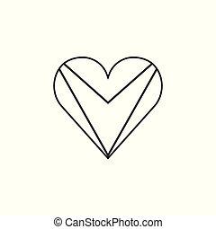 Guyana flag icon in a heart shape in black outline flat design