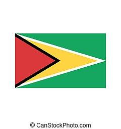 Guyana flag illustration