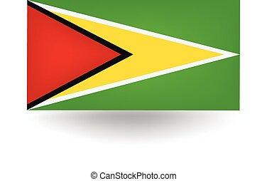 Guyana Flag - Official flag of Guyana.