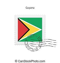 Guyana Flag Postage Stamp.