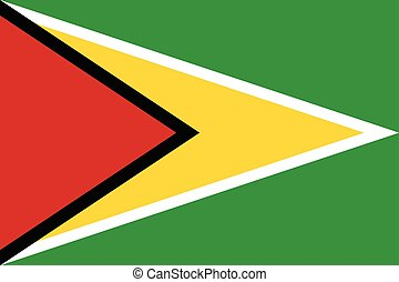 Guyana Flag. Vector Format